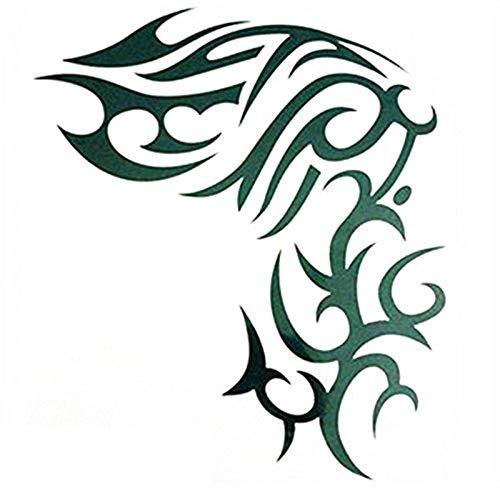 kashyk 1pc Schulter-Tattoo-Sticker, Arm-Fake-Tattoo, wasserdicht, schweißdicht, temporärer Tattoo-Sticker, Perfekter Urlaub und Party (Tiger-augen Make-up Halloween)