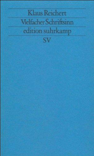 Vielfacher Schriftsinn: Zu »Finnegans Wake« (edition suhrkamp)