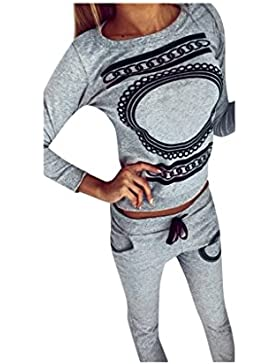 Koly_Moda con scollo a V 1 donne stabilite Activewear Palestra Sport Tops + Pants Outfits