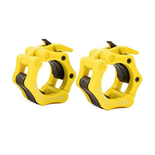 Earwaves - Topes de Pesas para Barra olímpica. Bloqueadores de Pesas para Crossfit, Halterofilia, Weightlifting, etc. Pinzas Abrazaderas de Barra olímpica para Discos Bumper.