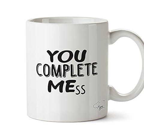 Hippowarehouse vous Complete Mess 283,5gram Mug Cup, Céramique, blanc, One Size (10oz)