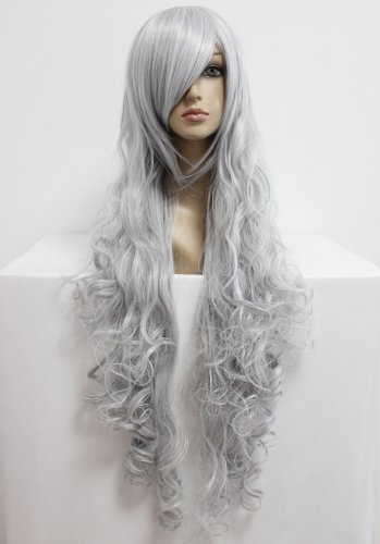 Perücke Silber Grau 90cm lang für Angel Sanctuary Rosiel Cosplay oder Schaufensterpuppen Karneval oder Mottoparties (Angel Sanctuary Cosplay)