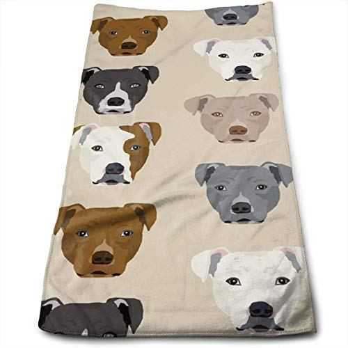 OQUYCZ Pitbull Heads Multi-Purpose Microfiber Towel Ultra Compact Super Absorbent and Fast Drying Sports Towel Travel Towel Beach Towel Perfect for Camping, Gym, Swimming. -