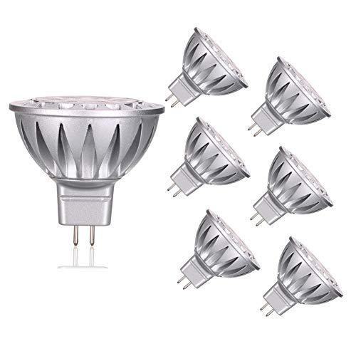 Haisha MR16 LED-Leuchtmittel, 7 W, entspricht 50 W Halogen-Glühbirnen, GU5.3 LED-Leuchtmittel, Warmweiß, 2700 K, 560 lm, 38 Grad, AC/DC 12 V, nicht dimmbar, 6 Stück -