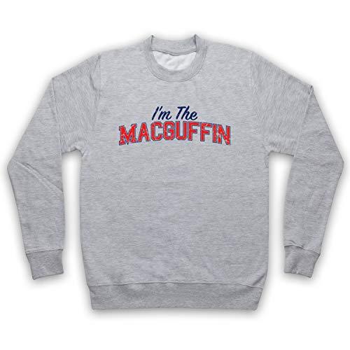 My Icon Art & Clothing I'm The Macguffin Funny Plot Device Slogan Erwachsenen Sweatshirt, Grau, Large -