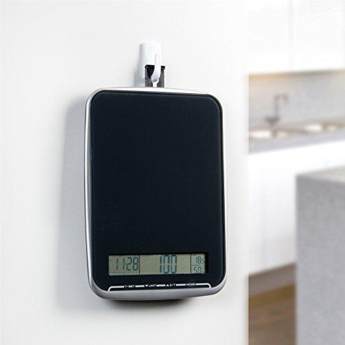 XL Multifunktions Küchenwaage mit Glasoberfläche, wiegt bis 10Kg, Touchbedienfeld, schwarz - 3