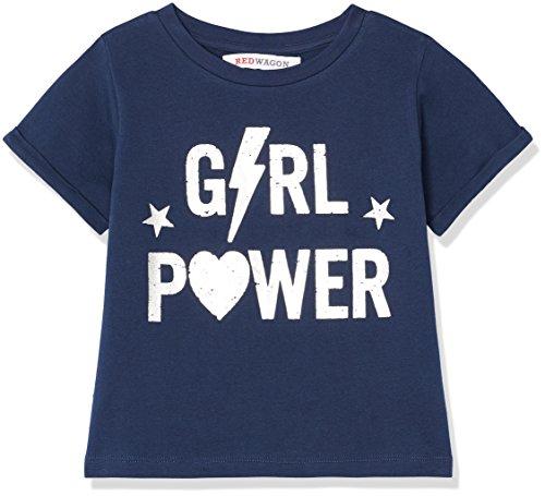 RED WAGON Girl's Slogan Box-Sweater T-Shirt