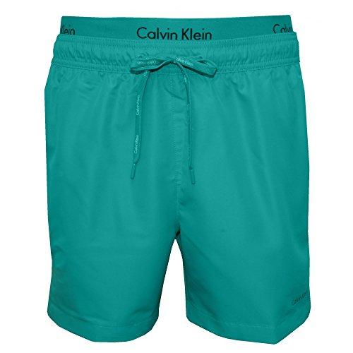 Calvin Klein Double Ceinture Swim Shorts, En Céramique Bleu Céramique Bleu