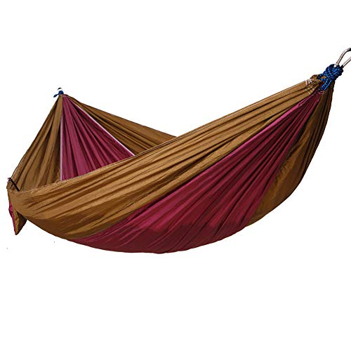 a literary youth Single/Double Outdoor Garden Camping Hammock,1/2 Person Hammock Cotton Soft Swing Sleeping Portable with Carrying Bag for Patio Yard Garden Backyard Porch Travel,@D - Single Rope Swing
