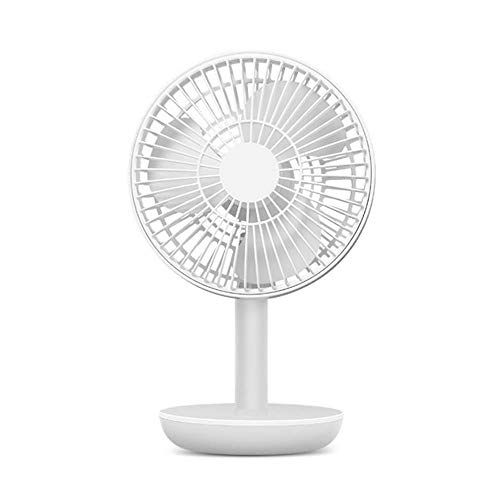 Vlejoy Ventilador USB Umluftventilator Wiederaufladbare Stummschaltung Energiesparender Desktop Studentenwohnheim Tragbarer Desktop Home Office Fitness Outdoor @ White (Office-fitness-geräte)