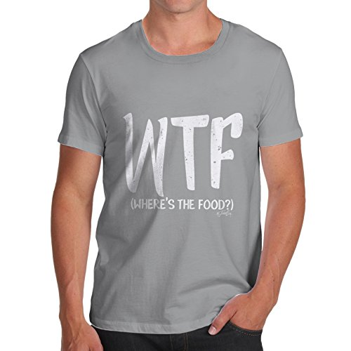 TWISTED ENVY Wtf Where's The Food Men's Funny T-Shirt
