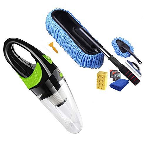 Member Saughandwagen Vac Handheld Auto-Staubsauger Autowasch-Kit Waschbürste Auto Auto-Putztücher Wasserschaber Kfz-Reinigungskitl -