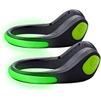 Tabiger 2-Pack LED Shoe Clip Light Rainproof Luminous Flashing Bright Night Running Lights LED Sport Gear Safety Warning Flashlight for Runners, Jogging, Cycling, Biking, Dog Walking At Night