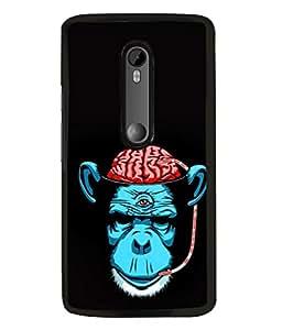 PrintVisa Designer Back Case Cover for Motorola Moto G3 :: Motorola Moto G (3rd Gen) :: Motorola Moto G3 Dual SIM (Monkey Animal Gorrila Blood Drinking)