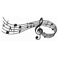 Idea Regalo - Adesivi da Parete Decorazioni Musical Notes Scheda, AUHOTA Parete Stickers Mural del Vinile dell'autoadesivo Arte Murale per Camera Soggiorno Ballo Sala - Moda e accattivante (23×9 pollici, Nero)