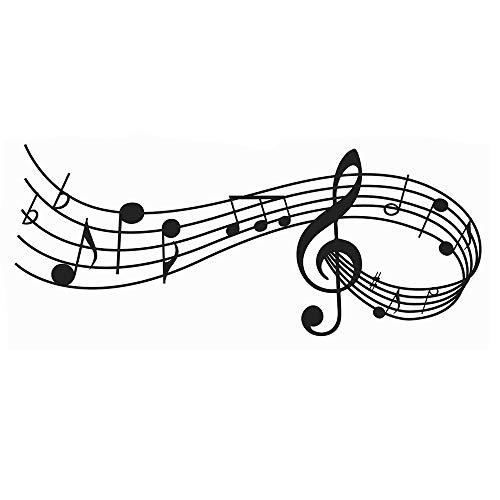 Musical Nota Pestañas De Música Pegatinas Pared