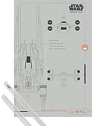 1art1 Star Wars Poster (91x61 cm) Rogue One, U-Wing Inklusive EIN Paar Posterleisten, Transparent