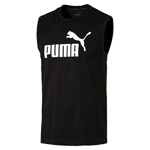Puma Herren Ess No.1 Sleeveless Tee T-Shirt Schwarztöne