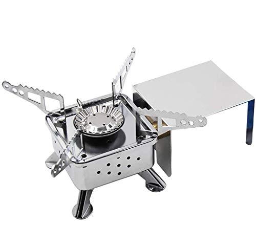 ToDIDAF - Hornillo de picnic plegable de acero inoxidable, 16 x 16...
