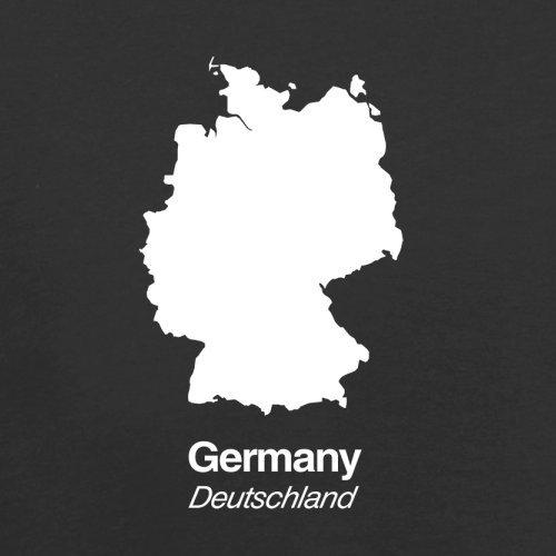 Germany / Deutschland Silhouette - Herren T-Shirt - 13 Farben Schwarz