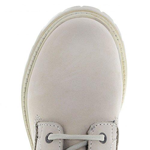 Wrangler Creek WL172500 Cream/Damen Schnürstiefel Weiss/Stiefel Schnürung Beige/Chukka Boots Cream