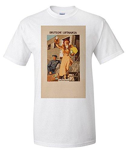 deutsche-lufthansa-vintage-poster-artist-engelhard-germany-c-1935-premium-t-shirt