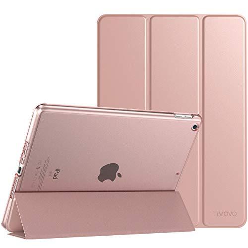 """TiMOVO Funda Compatible con Nuevo iPad 7th Generation 10.2"""" 2019, Ultra Delgado Protectora Plegable para iPad 10.2-Inch Tableta Cubierta Inteligente Trasera Transparente - Oro Rosa"""