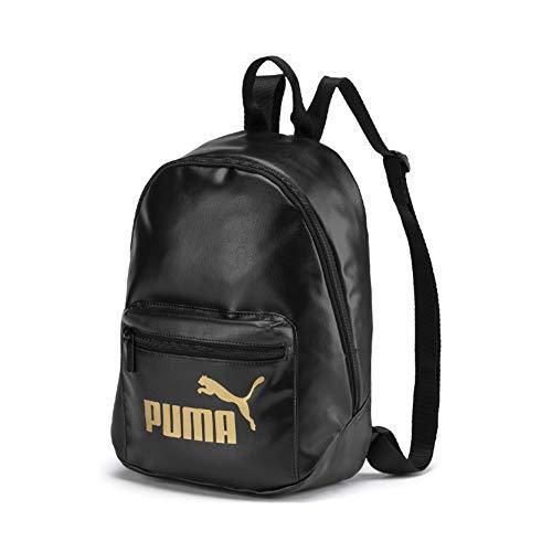 PUMA Damen WMN Core Up Archive Backpack Rucksack, Black-Gold, OSFA
