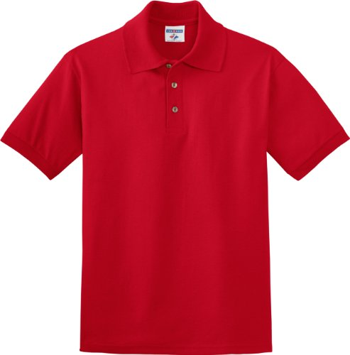 Jerzees J300 5,6 ml, 50/50 misto Polo in Jersey Rosso vero