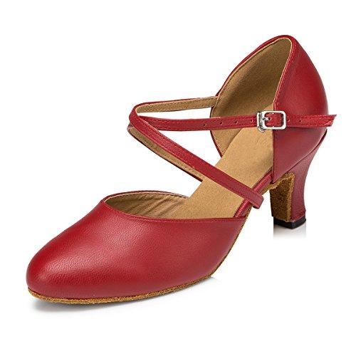 Meijili , Damen Tanzschuhe , rot - rot - Größe: 37.5