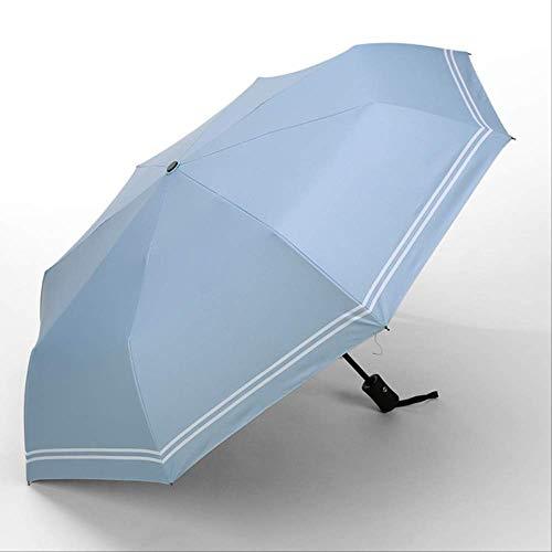 mhsm Regenschirm Automatisch Faltschirm Regenschirm Frauen Männlich Doppelschirm Auto Frauen Winddicht Regenschirm Regenschirm transparent blau Automatik