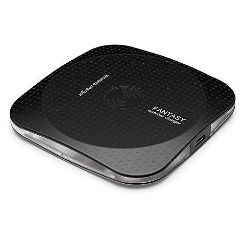 Chargeur sans Fil, Rhidon Qi Ultra Mince Métal Aluminium Wireless