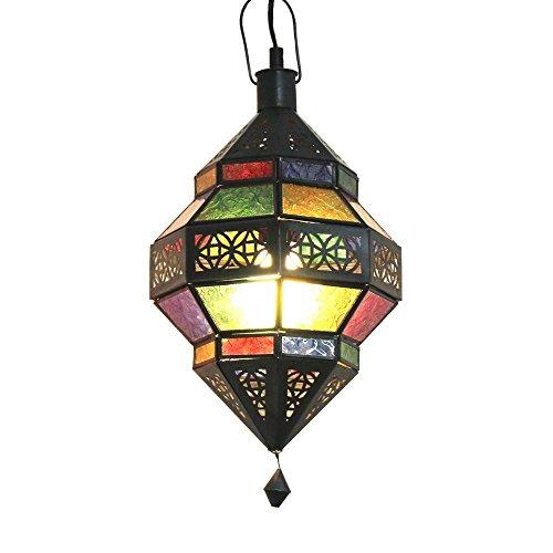 albena Marokko Galerie 13-131 Trob lámpara oriental estilo marroquí 30 cm cristal colorido