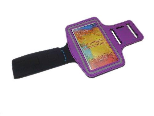 handy-point XXXXXL Armhalter, Sportarmband Armband für Sport / Laufen / Joggen für iPhone 6 Plus, 6S Plus, Samsung S6, Samsung S6 Edge, S7 Edge, Samsung Galaxy Note 1, Note 2, Note 3, Note 4, Note 5,  Lila- XXXXL Tasche