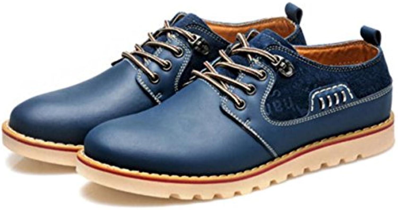 Hombres PU Zapatos De Cuero De Trabajo Conducción Zapatos Planos Zapatos De Cuero Casual