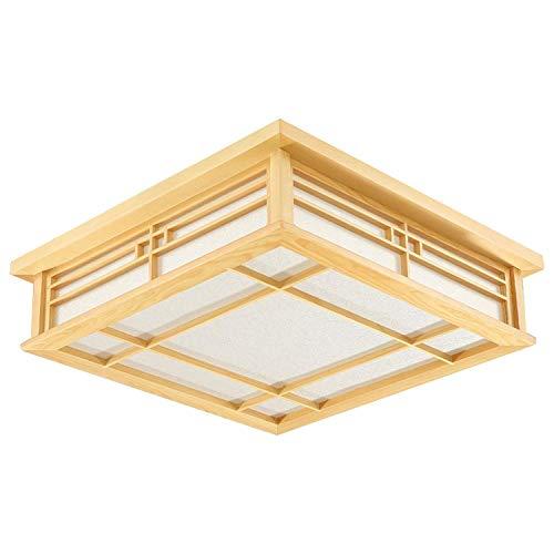 PoJu Deckenleuchte im japanischen Stil, LED-Lampe, Wohnzimmer Schlafzimmer Schlafzimmer Balkon Massivholzdecke Gehweg 3cm5 * 35cm * 12cm