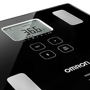 Omron VIVA die smarte Körperanalysewaage mit Bluetooth – misst Körperfett, Gewicht, Viszeralfett, Skelettmuskelmasse, Kaloriengrundumsatz und den BMI