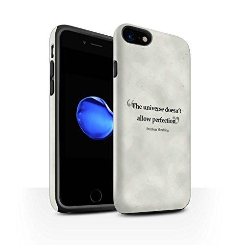 STUFF4 Matte Harten Stoßfest Hülle / Case für Apple iPhone 8 / Henry Ford Muster / Berühmte Zitate Kollektion Stephen Hawking
