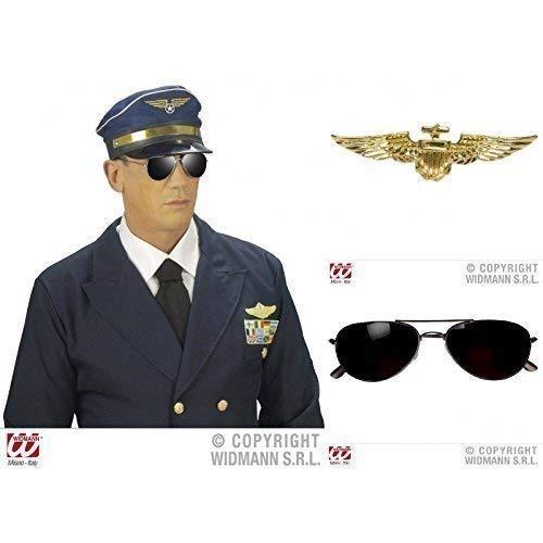 Lively Moments Piloten Special 3- er Set, Brille mit schwarzem Rahmen (Pilotenmütze Brille Mit)