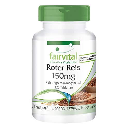 Roter Reis Tabletten 150mg - VEGAN - 120 Tabletten - 3% Monacolin K