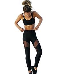 cLongra★Conjunto Camiseta y Pantalón adelgazante Top Camiseta Pantalones Larga Fitness Sauna Yoga Deportivos (negro, M)