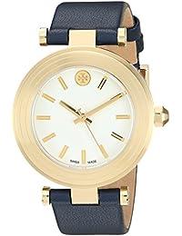 Tory Burch T clásico Dial marfil cuero marino señoras reloj TB9001 Marfil