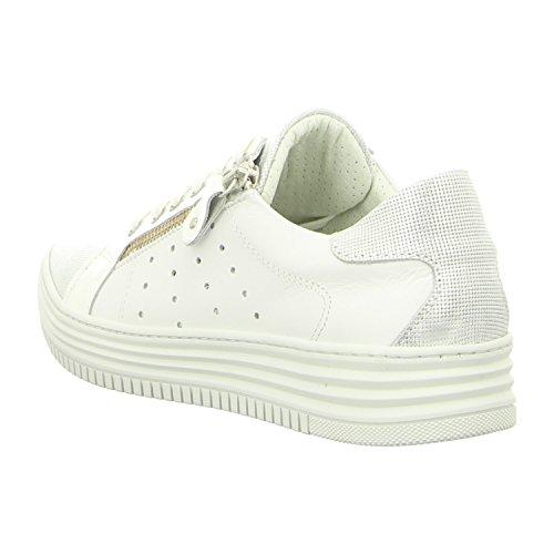 BULLBOXER  420003e5l_whwh, Chaussures de ville à lacets pour femme Blanc/blanc