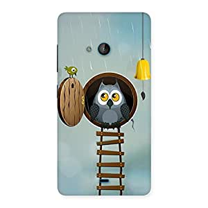 NEO WORLD Remarkable Raining Leader Owl Back Case Cover for Lumia 540