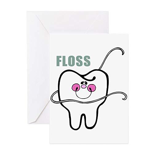 CafePress Grußkarte für Zahnseide, für Grußkarten, Geburtstagskarte, blanko Innenseite glänzend