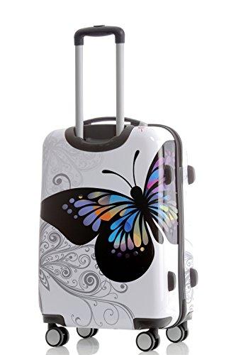 Reisekoffer 2060 Hartschalen Trolley Kofferset in 12 Motiven SET--XL-L--M-- Beutycase (Butterfly, XL) - 3