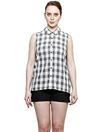 I AM FOR YOU Cotton Sleeveless Printed Shirt with Lace Back For Women's & Girls