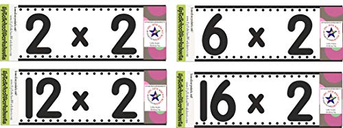 Set of Math Tables from Tables of 2 to 19 with Answers 128 Hard Laminated Cards Gives Xxceptionally Good Results