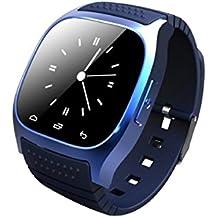 Green House - Smart Watch M26 Inteligente Reloj de Android Sistema con Pantalla Táctil con Multifunciones Azul
