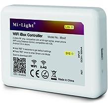 Milight Wifi Ponte Scatola Controller iBox2 Nuovo 3.0 Versione Wireless Potenziometro Per Milight serieRGBW WW/CW RGB+CCT ha Portato Lampadina Downlight Striscia di luce, Compatibile con IOS iphone ipad e Android Sistema